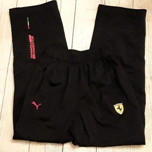 PUMA Boys Scuderia Ferrari Sweat Pants Size M